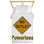 No Outlet Powerless Twin Duvet Cover