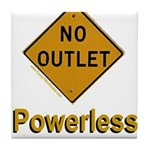 No Outlet Powerless Tile Coaster