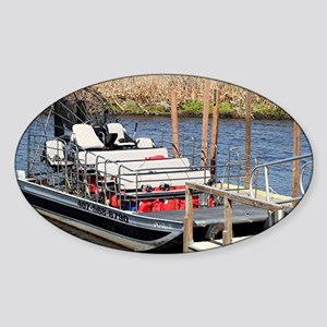 Florida swamp airboat Sticker