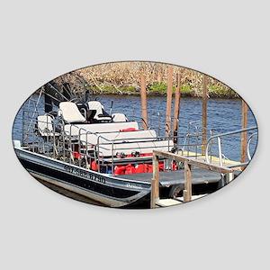 Florida swamp airboat Sticker