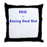 easing-god-out Throw Pillow