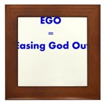 easing-god-out Framed Tile