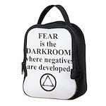 Fear is the Darkroom..... Neoprene Lunch Bag