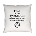 Fear is the Darkroom..... Everyday Pillow