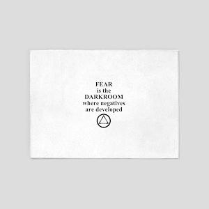 Fear is the Darkroom..... 5'x7'Area Rug