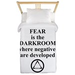 Fear is the Darkroom..... Twin Duvet Cover