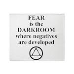 Fear is the Darkroom..... Throw Blanket