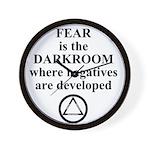 Fear is the Darkroom..... Wall Clock