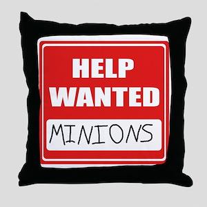 HelpWantedMinions Throw Pillow
