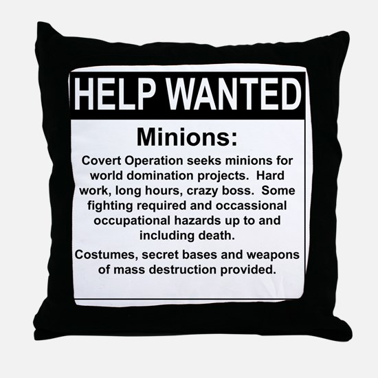 HelpWanted.png Throw Pillow