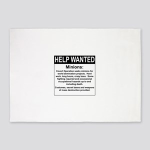 HelpWanted 5'x7'Area Rug