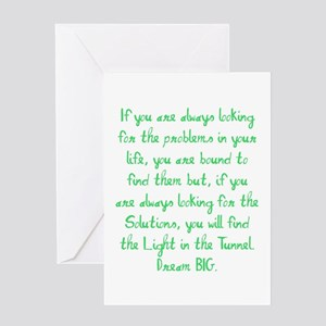 Light in the Tunnel Greeting Cards