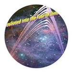fourth-dimension-space Round Car Magnet