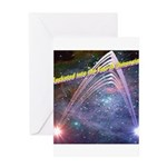 fourth-dimension-space Greeting Cards