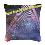 fourth-dimension-space Woven Throw Pillow