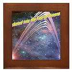 fourth-dimension-space Framed Tile