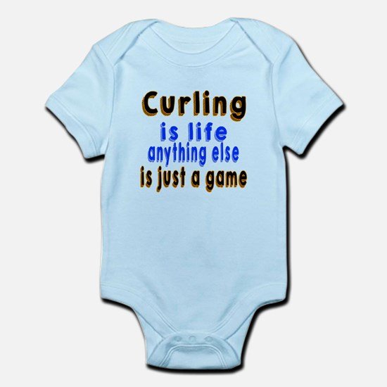 Curling Is Life Anything Else Infant Bodysuit