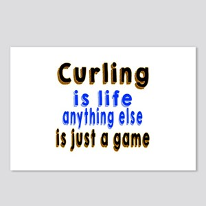 Curling Is Life Anything Postcards (Package of 8)