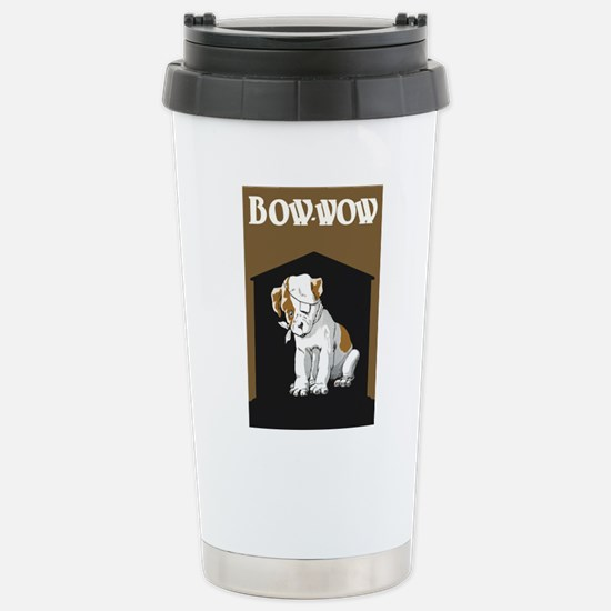 Bow Wow Puppy Stainless Steel Travel Mug