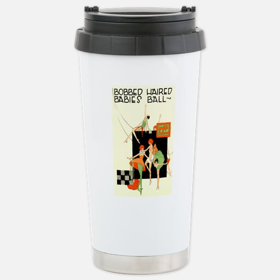 Bobbed Haired Flappers Stainless Steel Travel Mug