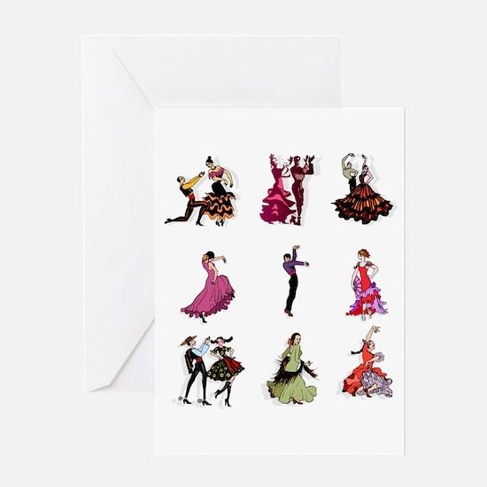 Flamenco Spanish Dancing Greeting Cards