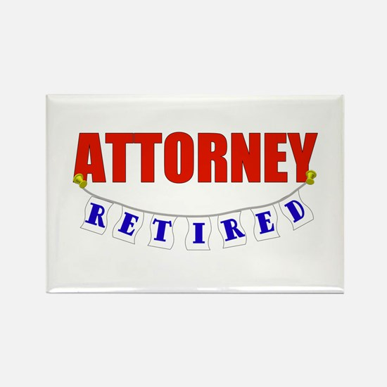 Retired Attorney Rectangle Magnet (10 pack)