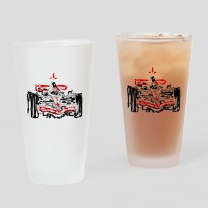 Race car Drinking Glass