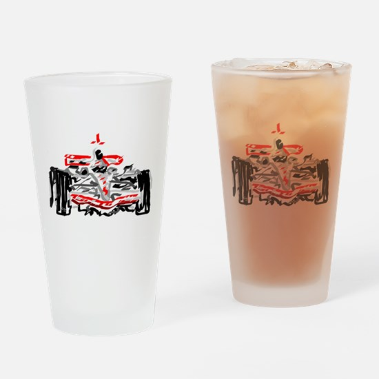 Race car Drinking Glass