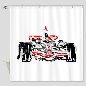 Race car Shower Curtain