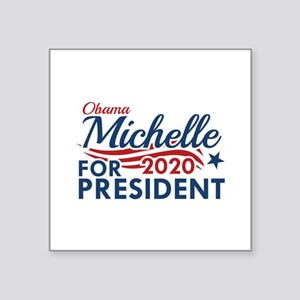 "Michelle Obama 2020 Square Sticker 3"" x 3"""