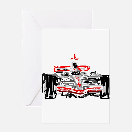 Race car Greeting Cards