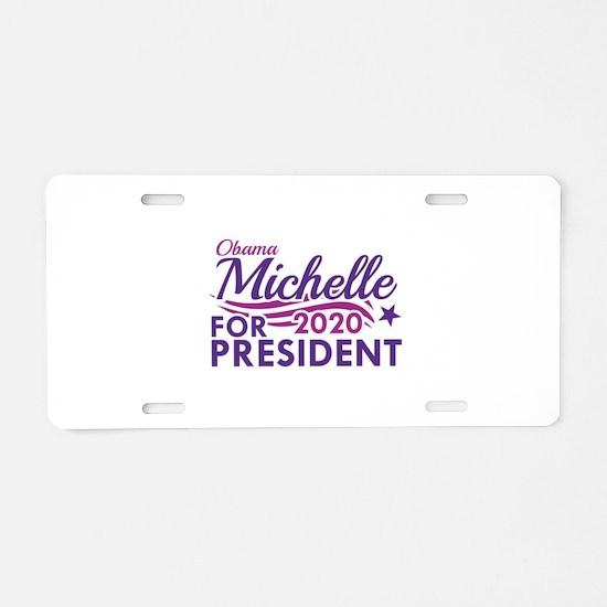 Michelle Obama 2020 Aluminum License Plate