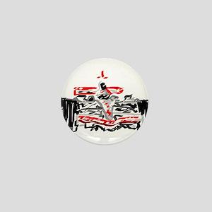 Race car Mini Button