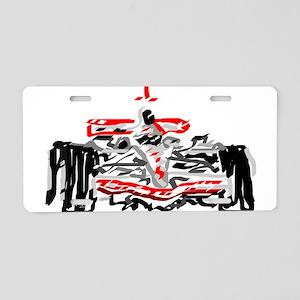 Race car Aluminum License Plate