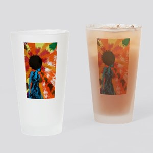 Righteous Afro Funk Drinking Glass