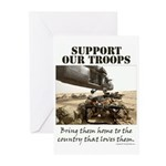Support Our Troops Greeting Cards (Pk of 10)