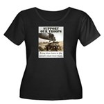 Support Our Troops Women's Plus Size Scoop Neck Da