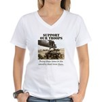 Support Our Troops Women's V-Neck T-Shirt