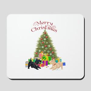 Christmas Scottie Dogs Mousepad