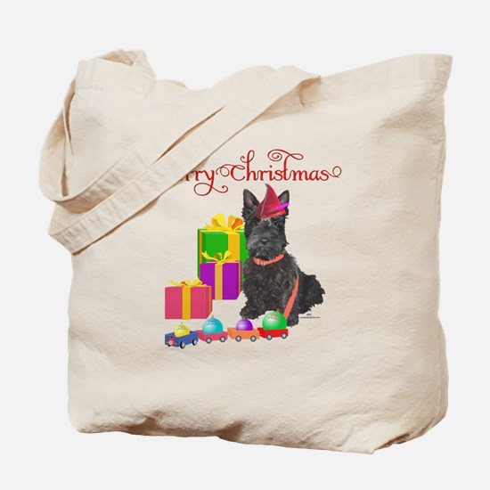 Scottie Christmas Elf Tote Bag