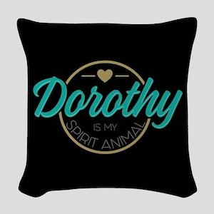 Dorothy Spirit Animal Woven Throw Pillow