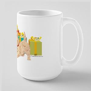 Scottie Dog Christmas Large Mug
