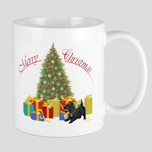 Scottie Dog Christmas Mug