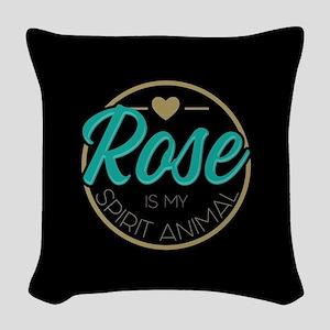 Golden Girls - Rose Spirit Ani Woven Throw Pillow