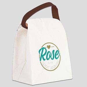 Golden Girls - Rose Spirit Animal Canvas Lunch Bag