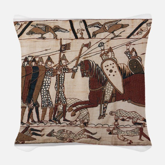 Bayeux Tapestry Woven Throw Pillow