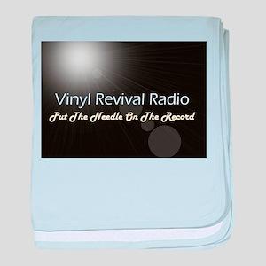 Vinyl Revival Radio baby blanket