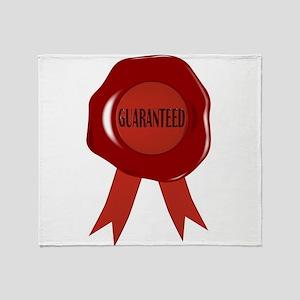 Wax Stamp Guaranreed Throw Blanket