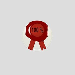 Wax Stamp 100 Percent Mini Button