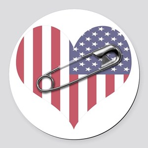 Safety Pin Round Car Magnet